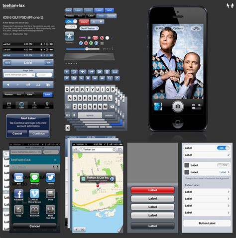 iphone photoshop template the iphone 5 photoshop gui template from teehan lax