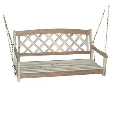 Unfinished Patio Furniture Shop International Concepts Unfinished Porch Swing At Lowes