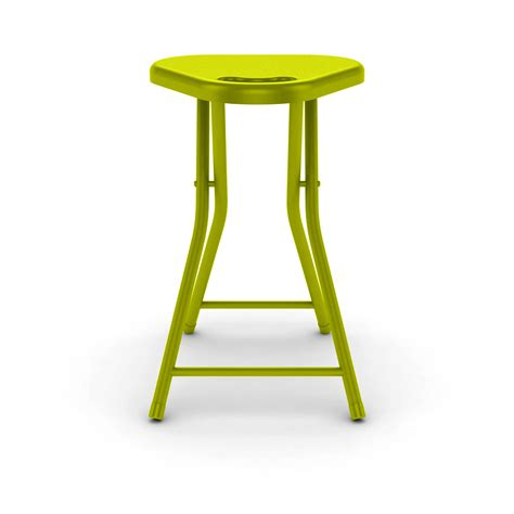 folding stool with handle in lime green 4 pack dar