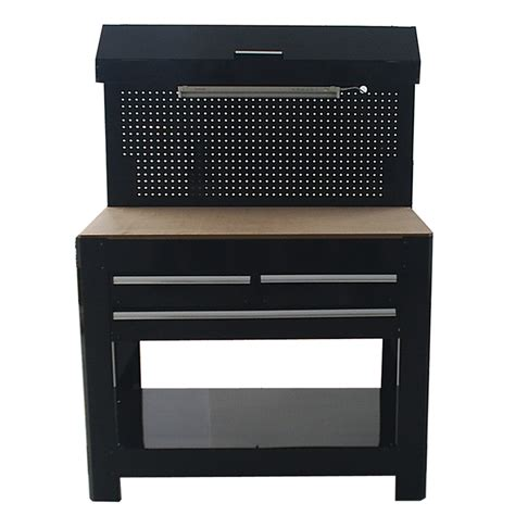 lighted bench shop kobalt 45 in w x 36 in h 3 drawer wood work bench at