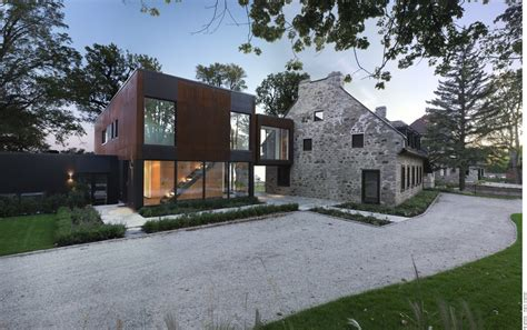 old modern old home meets contemporary architecture bord du lac