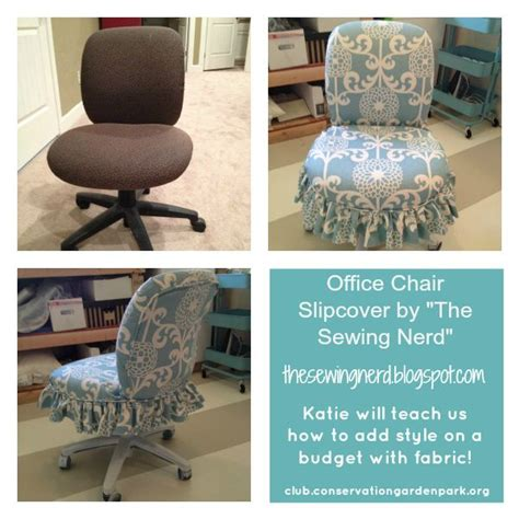 slipcovers for office chairs office chair slipcover the sewing nerd fauteuils