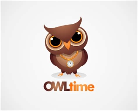 Owl Time by 30 Creative And Inspiring Owl Logo Designs
