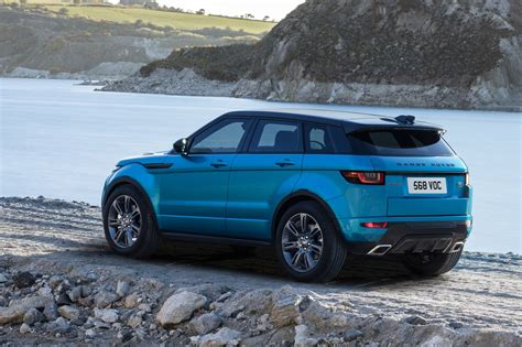 range rover evoque blue range rover evoque landmark edition celebrates sales