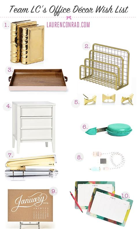 home d 233 cor wish list beautyfold we are loving these office decor pics from lauren conrad