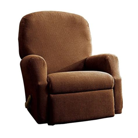 recliner slipcovers target oar brown stretch rib recliner slipcover sure fit target