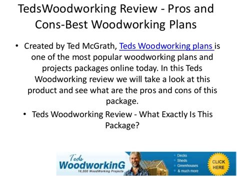 tedswoodworkingreview pros  cons  woodworking plans