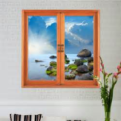 3d Wall Art Stickers 3d Artificial Window View 3d Wall Decals Removable