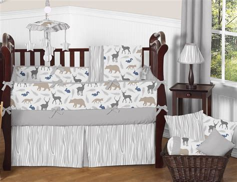 woodland animals crib bedding collection