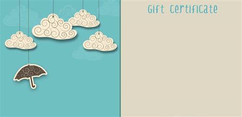 create your own gift certificate template free template