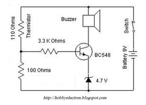 ntc thermistor circuit design hobby in electronics heat sensor circuit