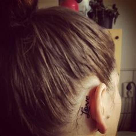 tattoo behind ear wash hair cross tattoo behind ear matching one with the best friend