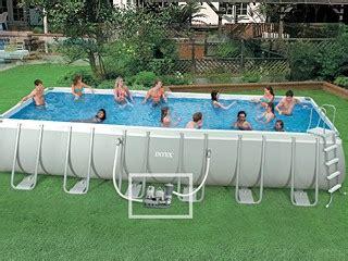 piscine autoportée intex 1099 kit piscine hors sol intex ultra silver rectangulaire 7 32