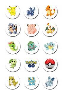 pokemon go edible icing cupcake toppers 2 quot pre cut deezee designs madeit com au
