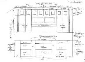 standard kitchen cabinets wall
