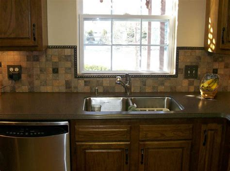 how to backsplash kitchen backsplash like the trim around the window this would