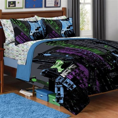 new teen guitar rock star full queen 3pc comforter set
