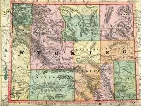 Map Of Wyoming State by Wyoming State Map My Blog