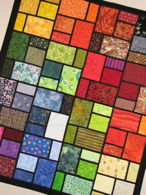 Stained Glass Quilt by Stained Glass Quilted Wall Hanging Beautiful Easy