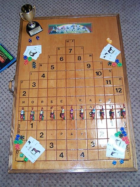wood horse racing game woodworking