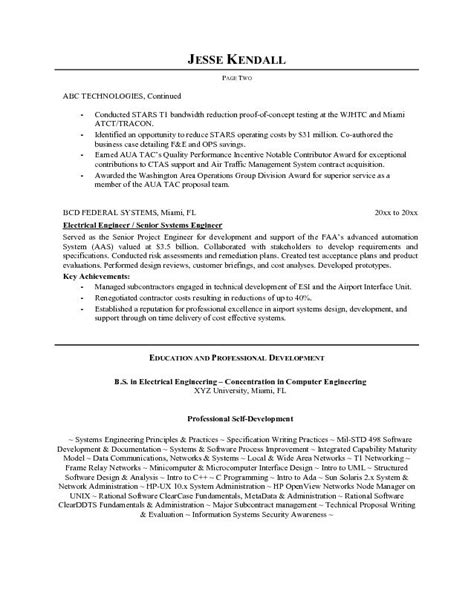 csep systems engineer sle resume uxhandy com