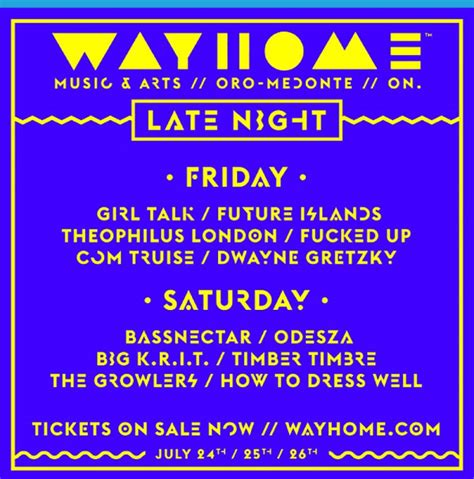 wayhome reveals late lineup festival experience