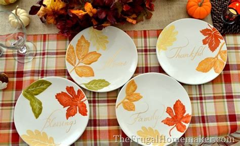31 days of fall inspiration fall table with better homes and gardens white porcelain dishes