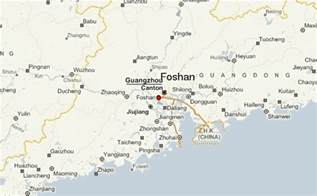 Foshan China Map by Foshan Location Guide