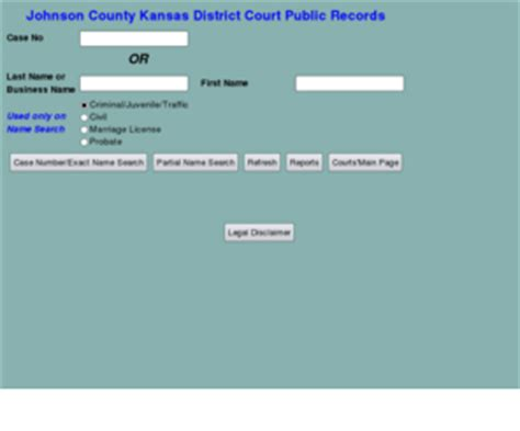 Johnson County District Court Records Jococourts Org Johnson County Kansas District Court Document Search