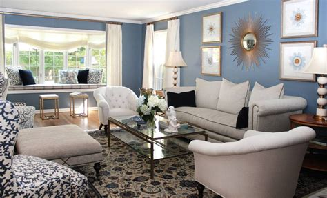 blue and cream living room 10 spacious mansion living room ideas