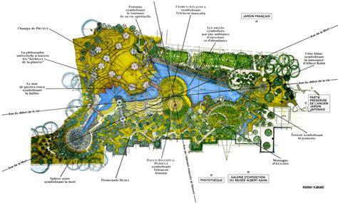 Plan Jardin Japonais by Jardin Japonais Albert Kahn Atelier Kaba