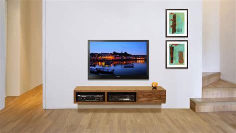 floating wall mounted tv console mayan mocha