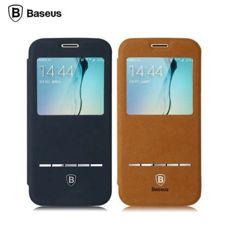 Samsung Galaxy S6 Edge Tablet by Baseus 174 Samsung Galaxy S6 Edge Smart Terse Windowview Suede Leather Flip Cover Galaxy S6