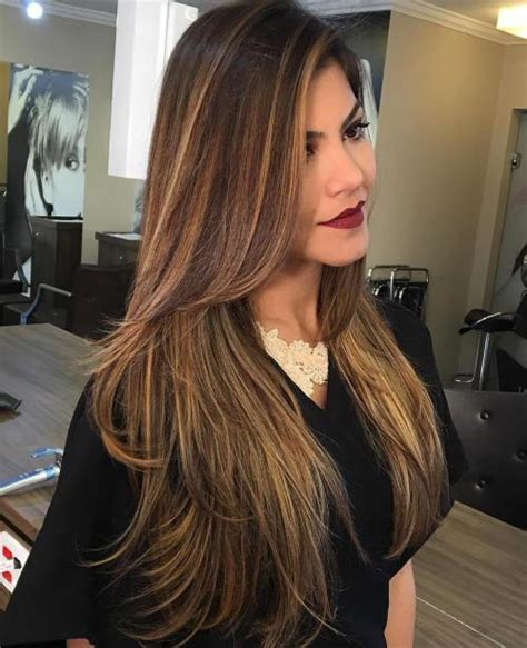 thin or chunky highlights 2013 80 cute layered hairstyles and cuts for long hair in 2016