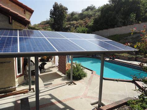 Backyard Solar Panels by Solar Panel Pergola Hmm Idea Since We Get Mass