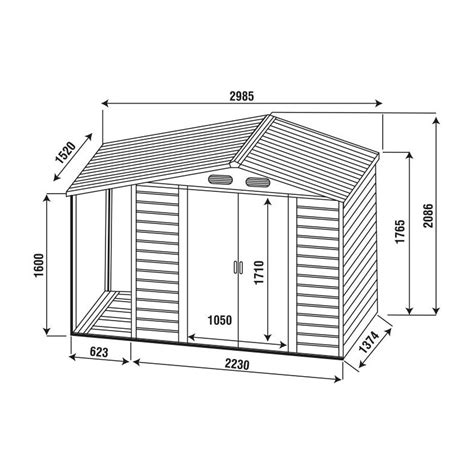 tettoia in lamiera casetta in lamiera cottage con tettoia