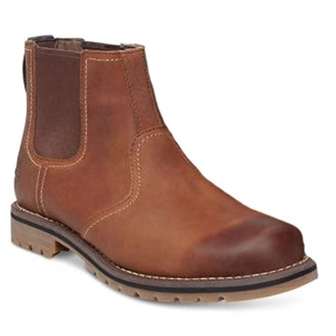 timberland mens leather boots timberland larchmont a13hz mens leather chelsea boots brown