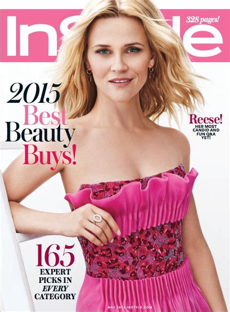 Hudsons Vogue Cover With Photoshop by Reese Witherspoon Wearing Giorgioarmani Instyle Us May