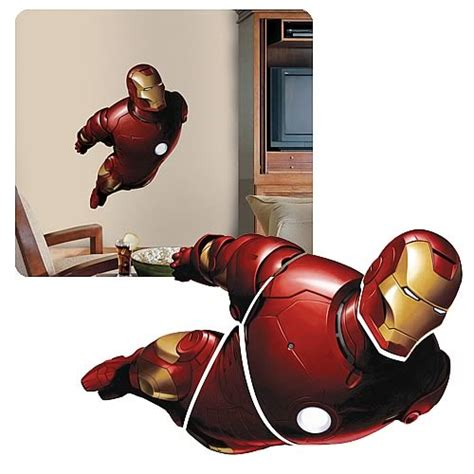 iron man home decor iron man peel and stick giant wall appliqu 233 roommates