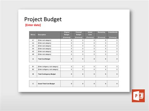 Steering Committee Budget Overview Project Templates Guru Budget Overview Template