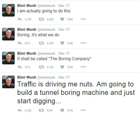 elon musk tweet elon musk suggests plan to dig tunnels to combat american