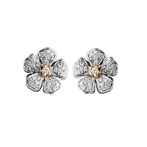 orecchini a fiore orecchini 1 fiore de nobili gioielli