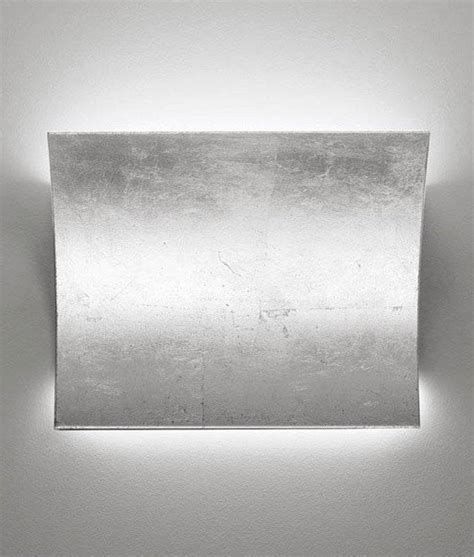Silver Wall Lights Led Up Silver Leaf Wall Light