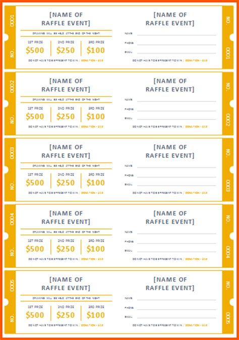 print your own tickets template search results for free printable blank raffle tickets