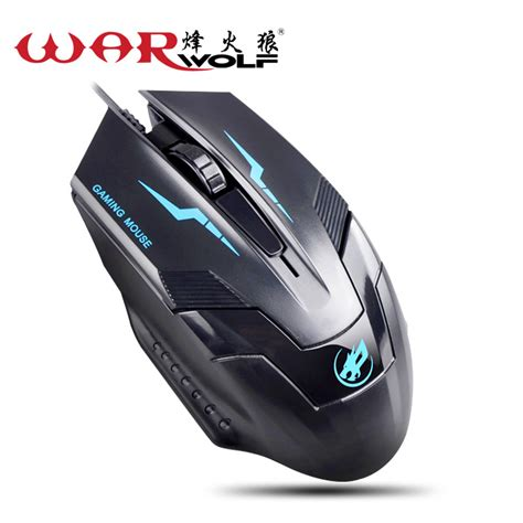 Mouse Gaming Aliex War Wolf aliexpress buy war wolf m520 breathing led 7colors 3d usb professional gaming wired