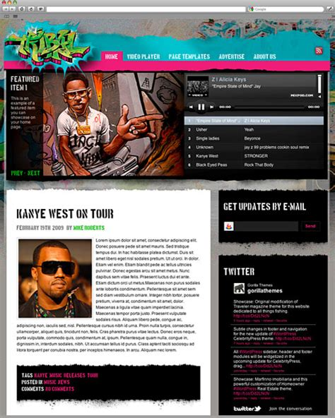 musician profile template themes and plugins easy theme website