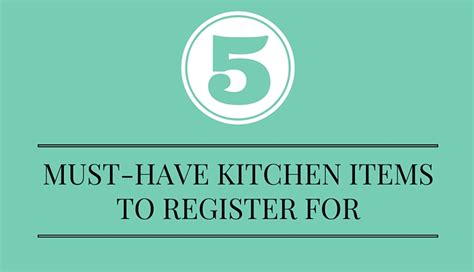 must haves for living a healthy life kitchen weapon healthy wedding registry kitchen checklist mind body bride