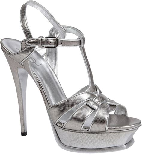 Yves Laurent Tribute Pumps Could They Be Any Hotter by Laurent Silver In Box Ysl Yves Tribute Metallic