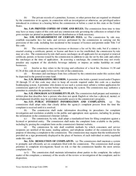Tabc Records 042910 Tabc Laws