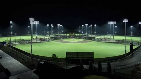 baseball field lighting systems musco led solutions light up sports venues around the